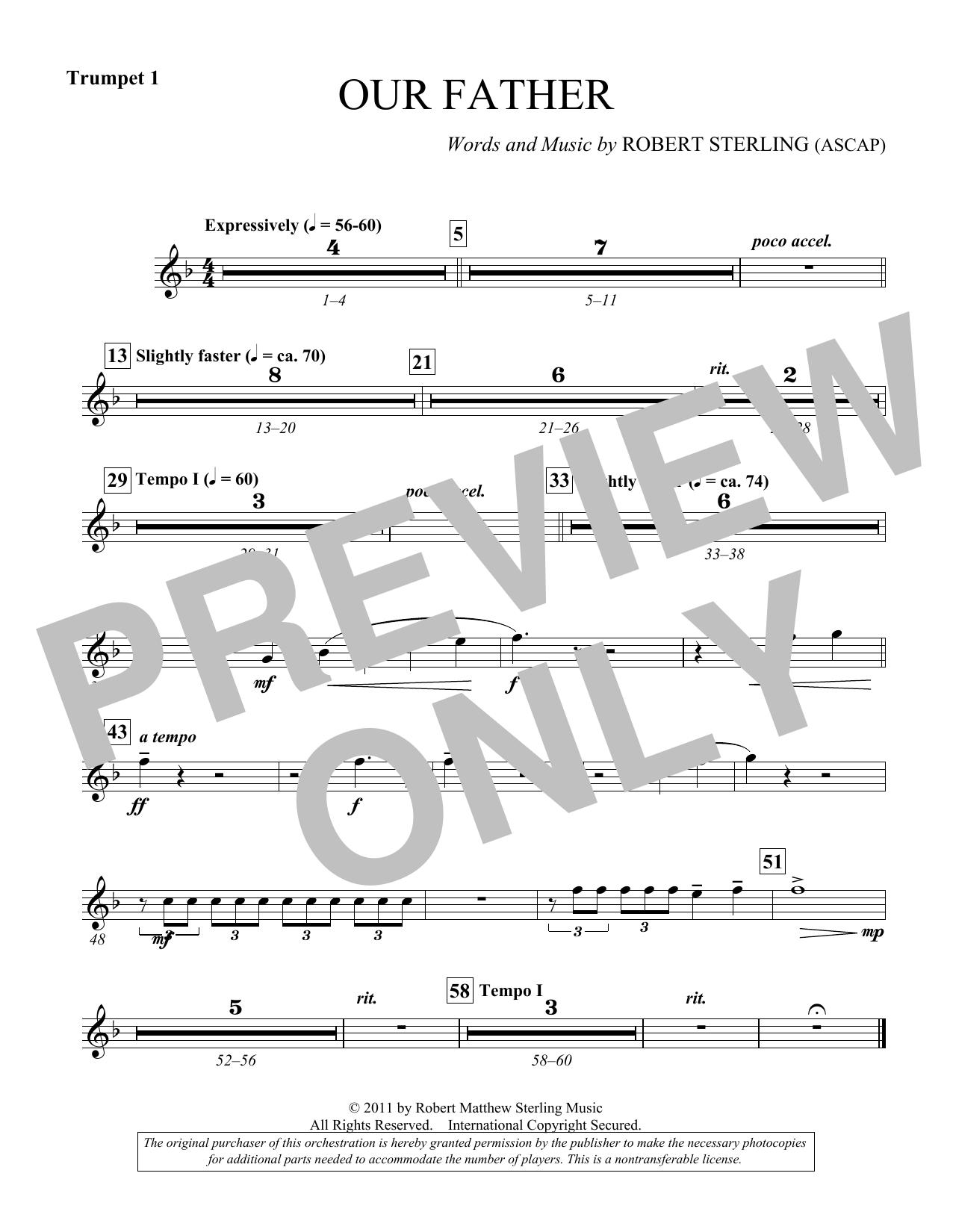 Our Father - Bb Trumpet 1 (Choir Instrumental Pak)