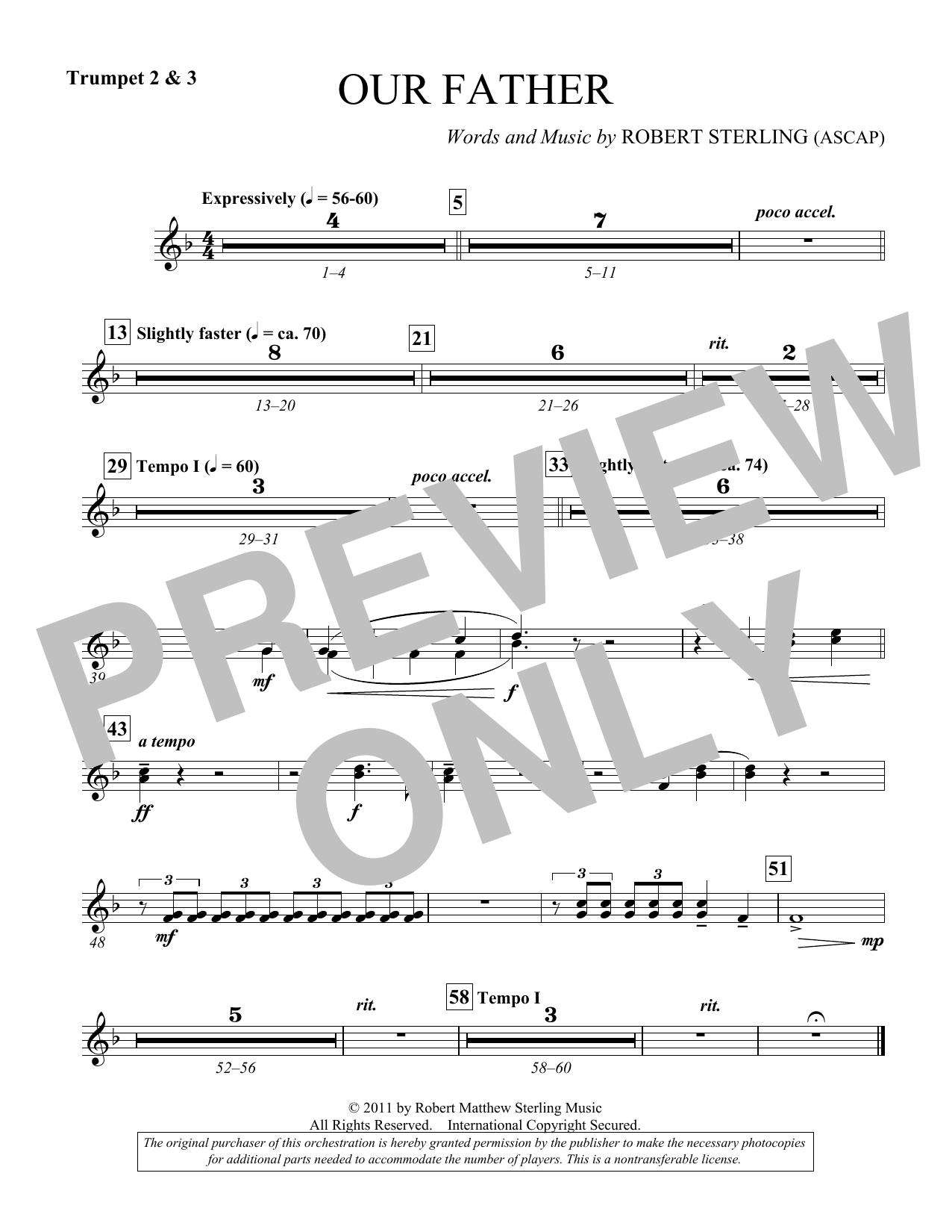Our Father - Bb Trumpet 2,3 (Choir Instrumental Pak)