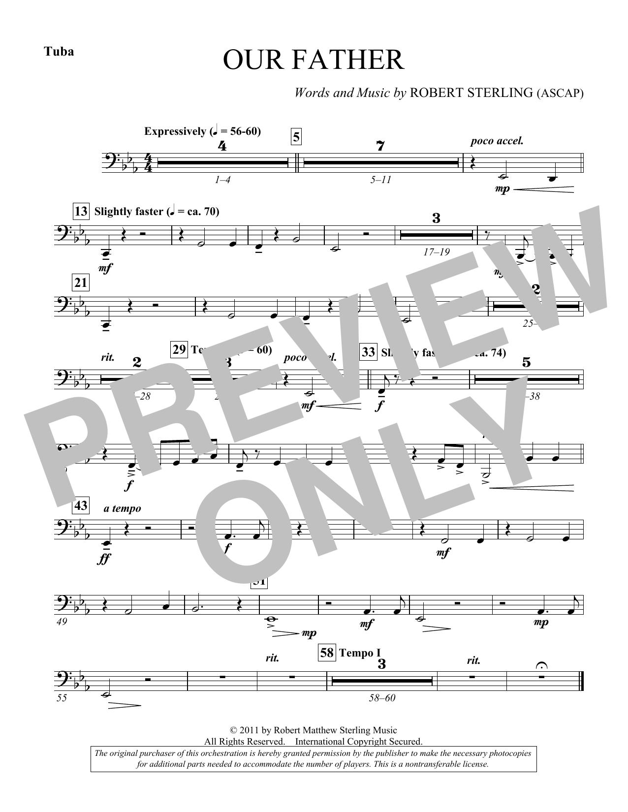 Our Father - Tuba (Choir Instrumental Pak)