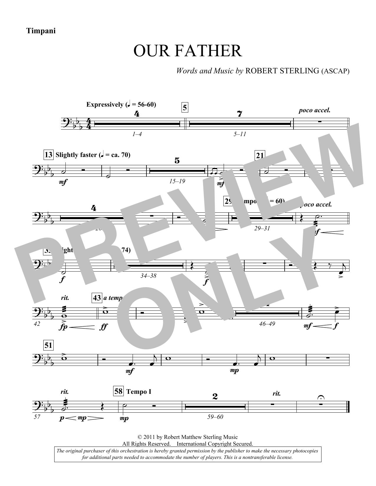 Our Father - Timpani (Choir Instrumental Pak)