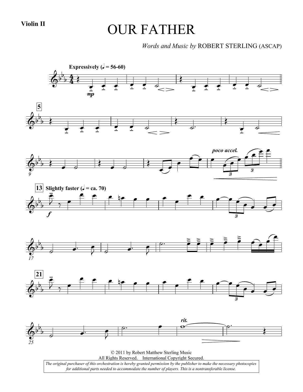Our Father - Violin 2 (Choir Instrumental Pak)