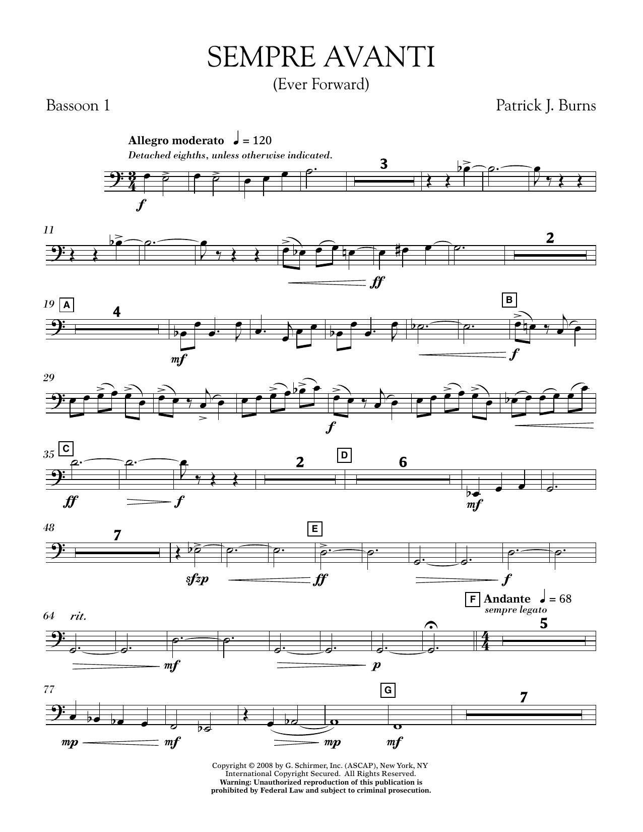 Sempre Avanti - Bassoon 1 (Concert Band)