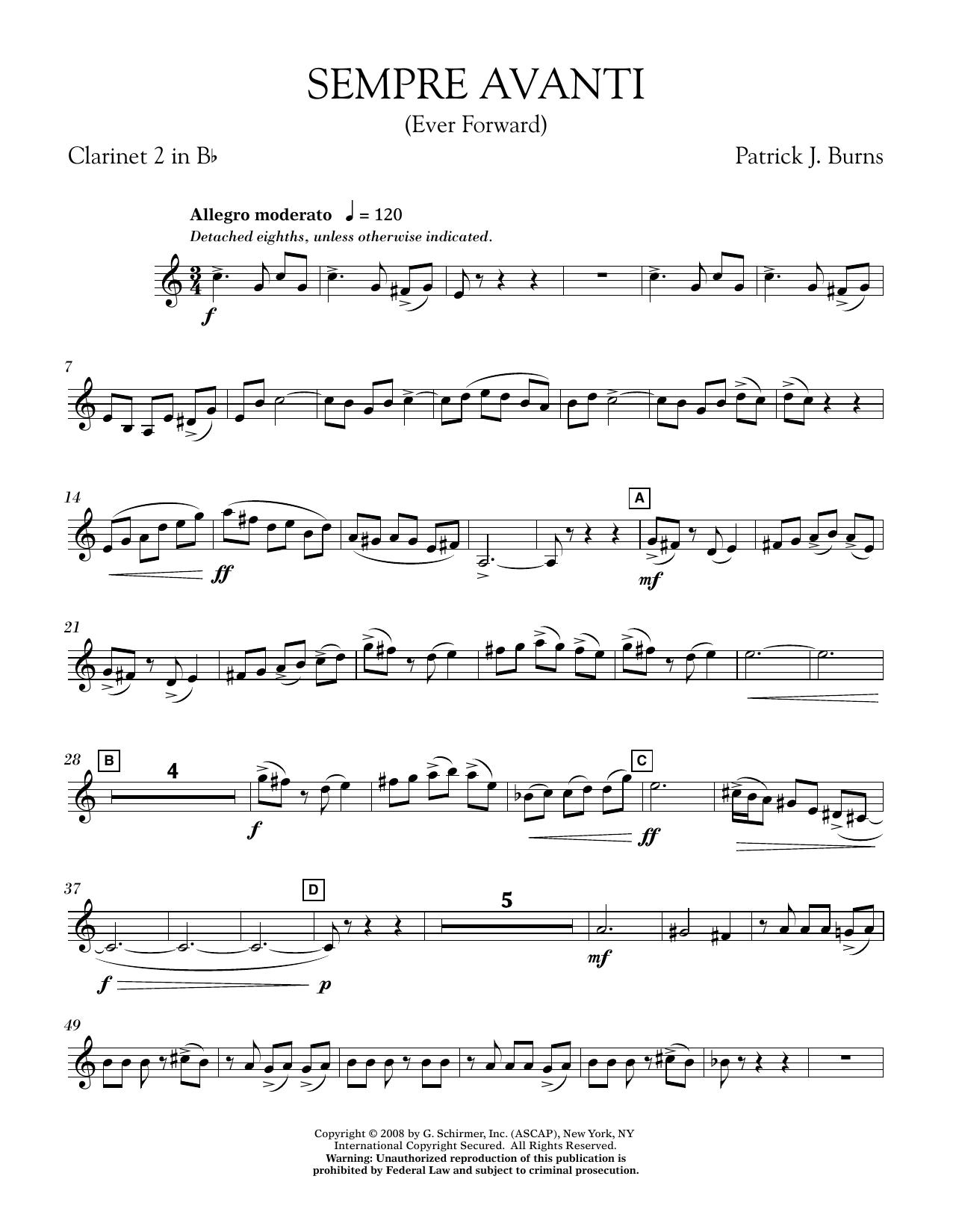Sempre Avanti - Bb Clarinet 2 (Concert Band)