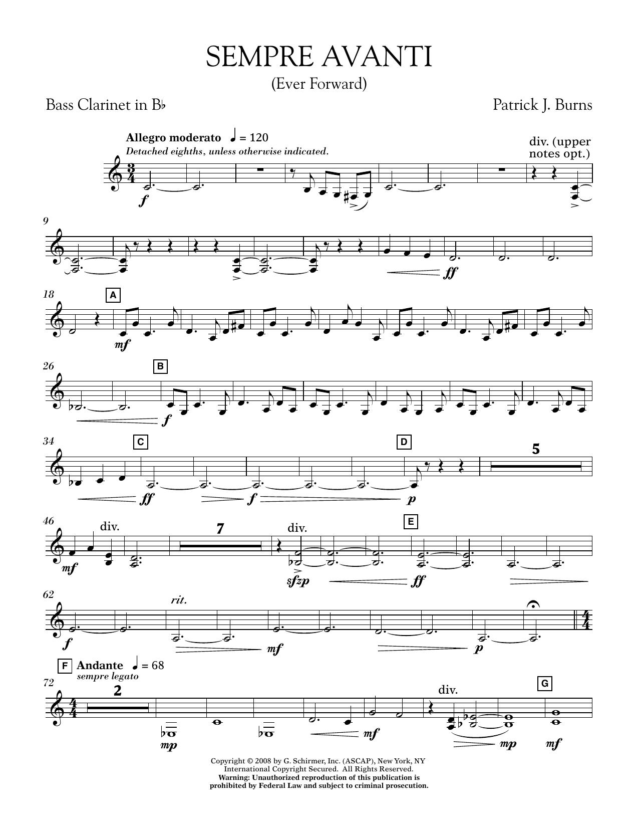 Sempre Avanti - Bb Bass Clarinet (Concert Band)