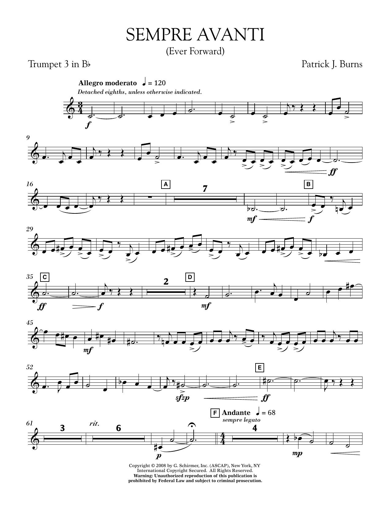 Sempre Avanti - Bb Trumpet 3 (Concert Band)