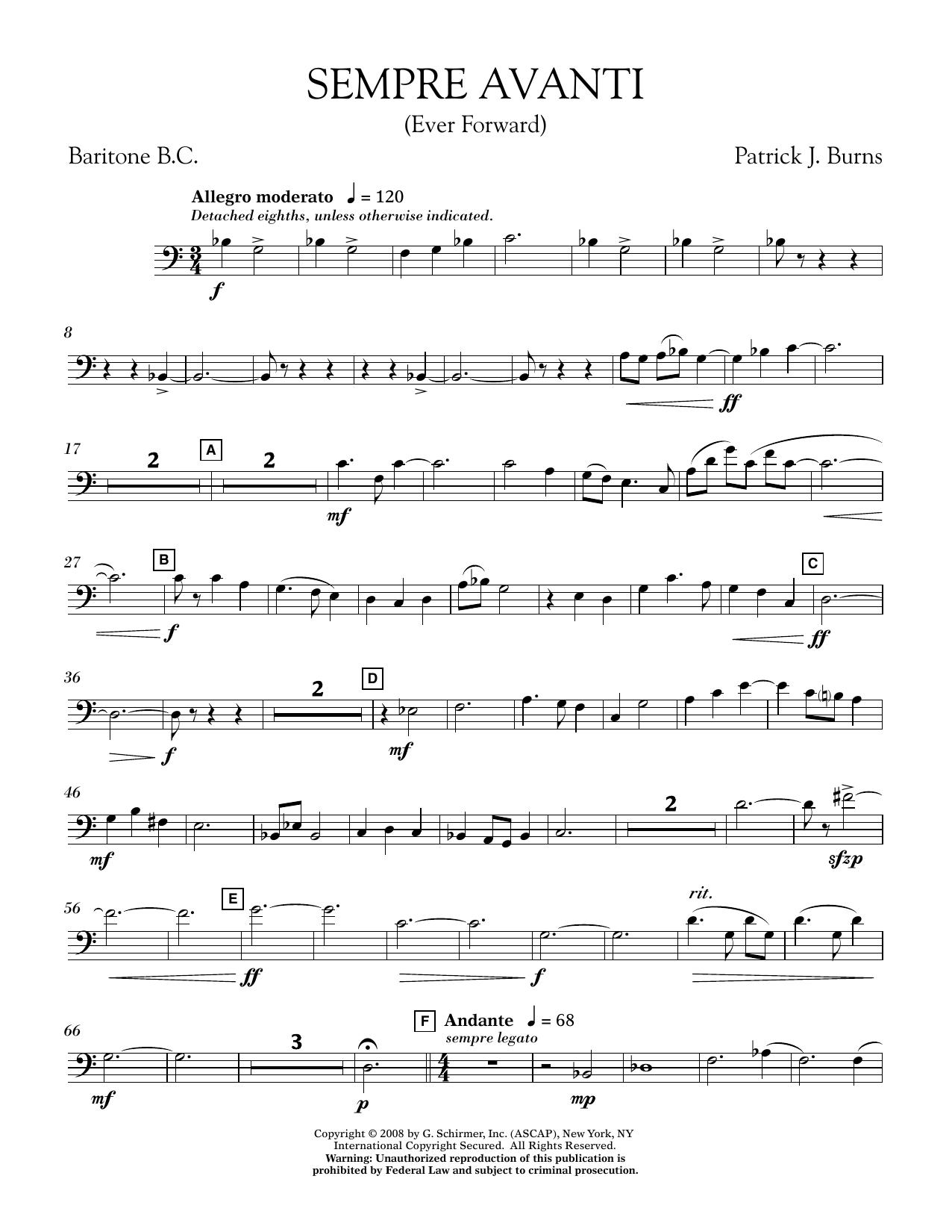 Sempre Avanti - Baritone B.C. (Concert Band)