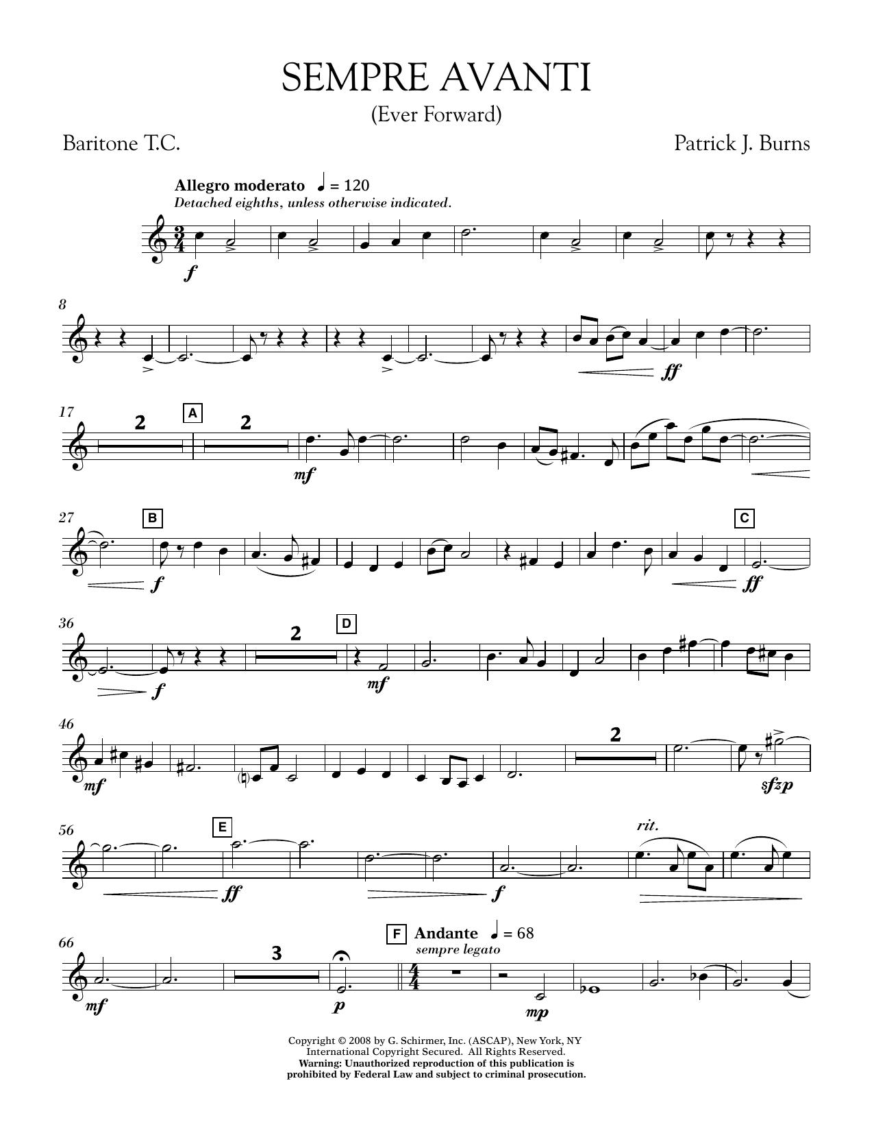 Sempre Avanti - Baritone T.C. (Concert Band)