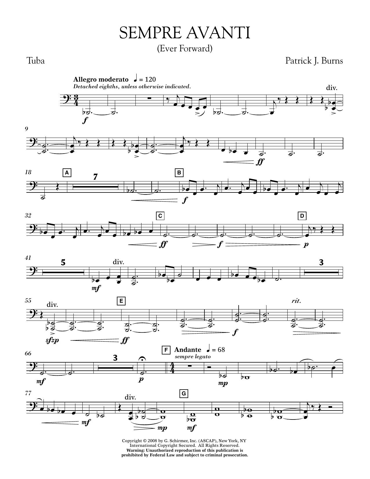 Sempre Avanti - Tuba (Concert Band)