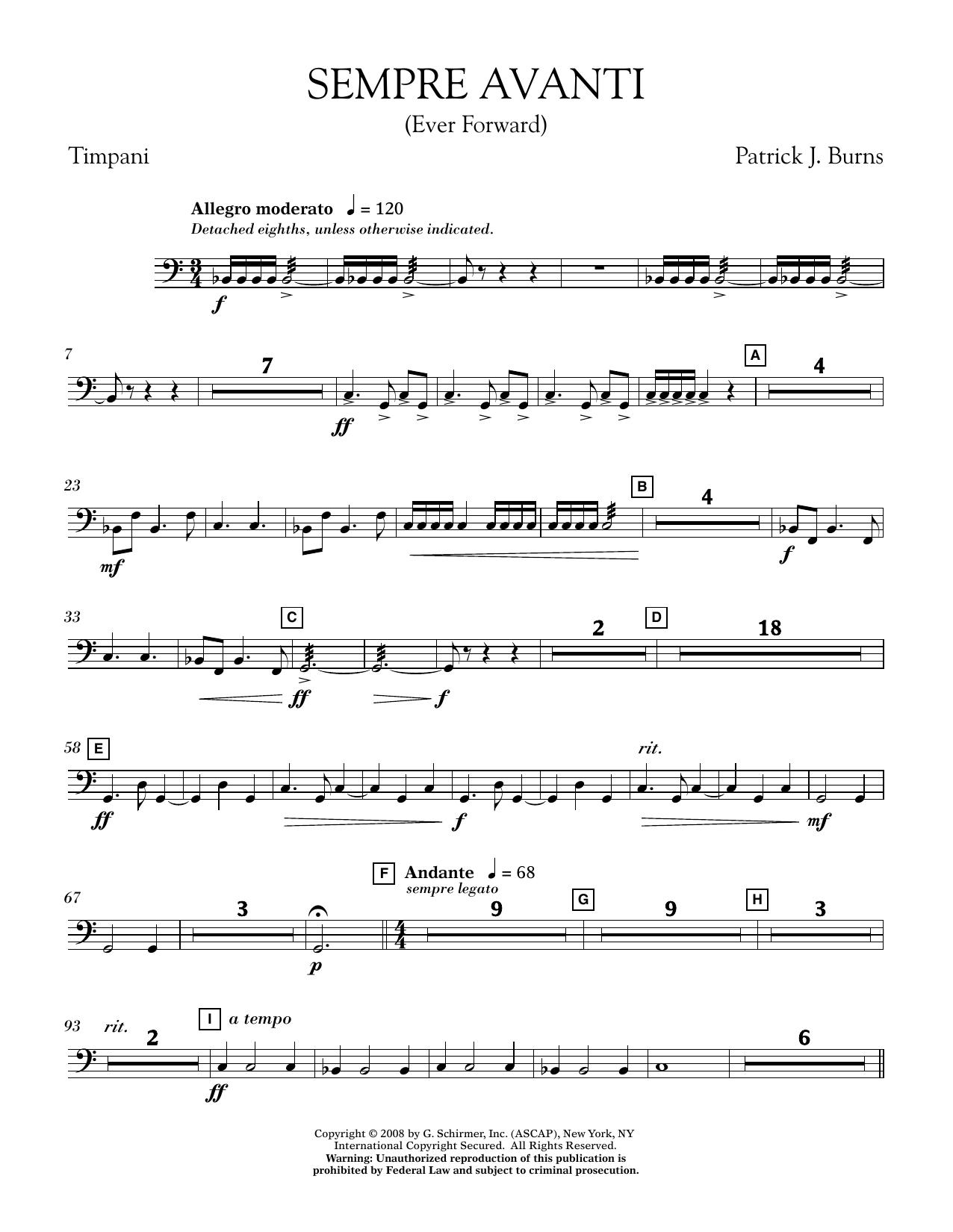 Sempre Avanti - Timpani (Concert Band)