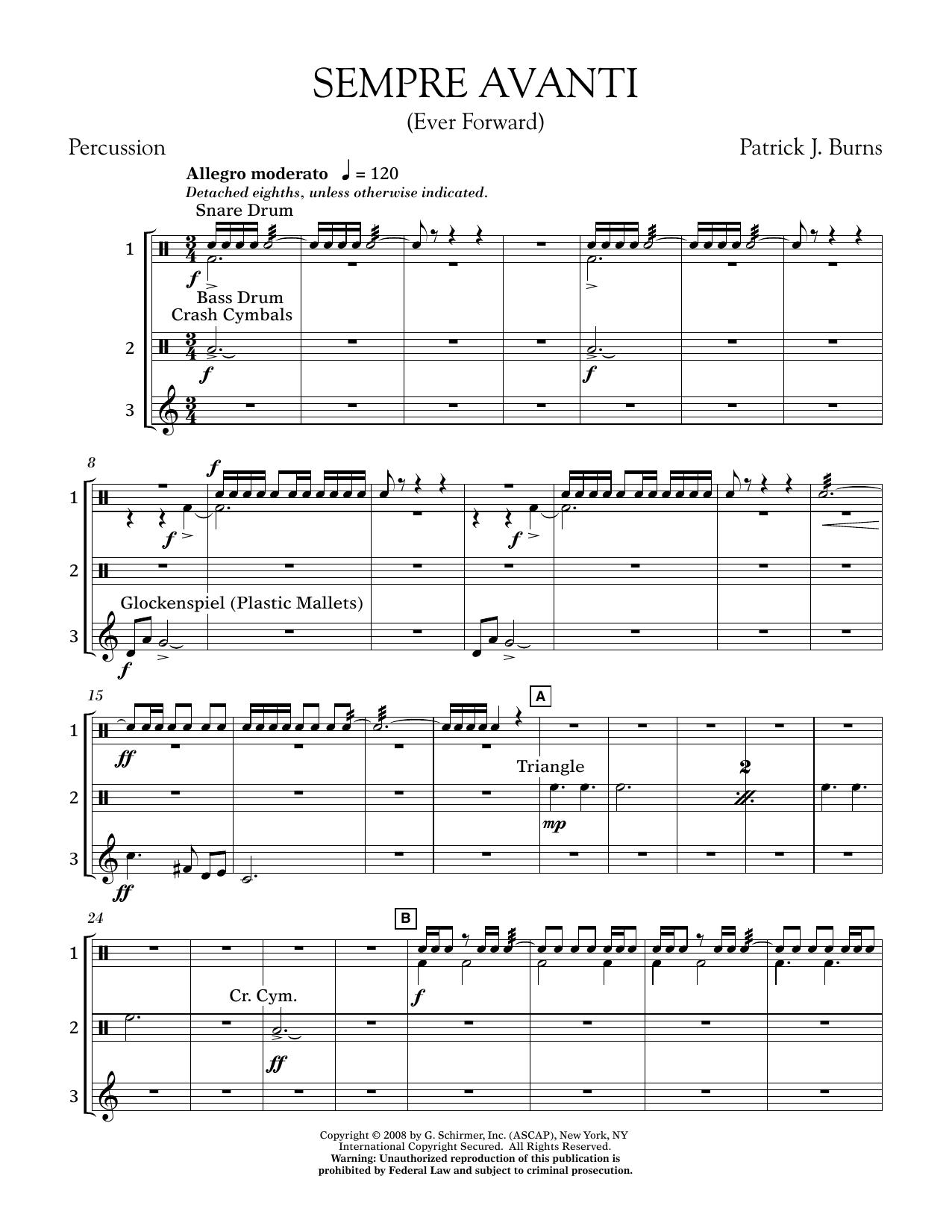 Sempre Avanti - Percussion (Concert Band)