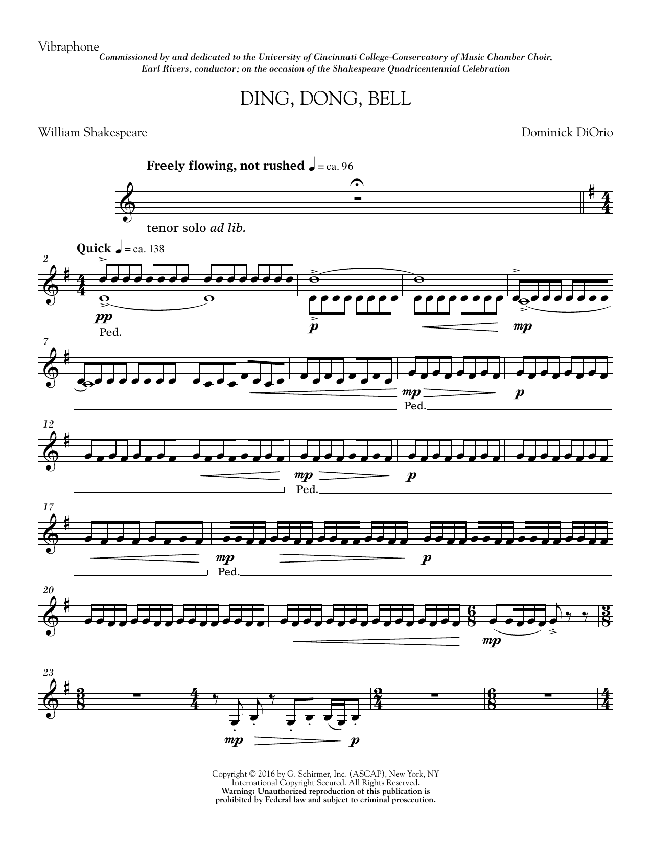 Ding, Dong, Bell - Vibes Sheet Music