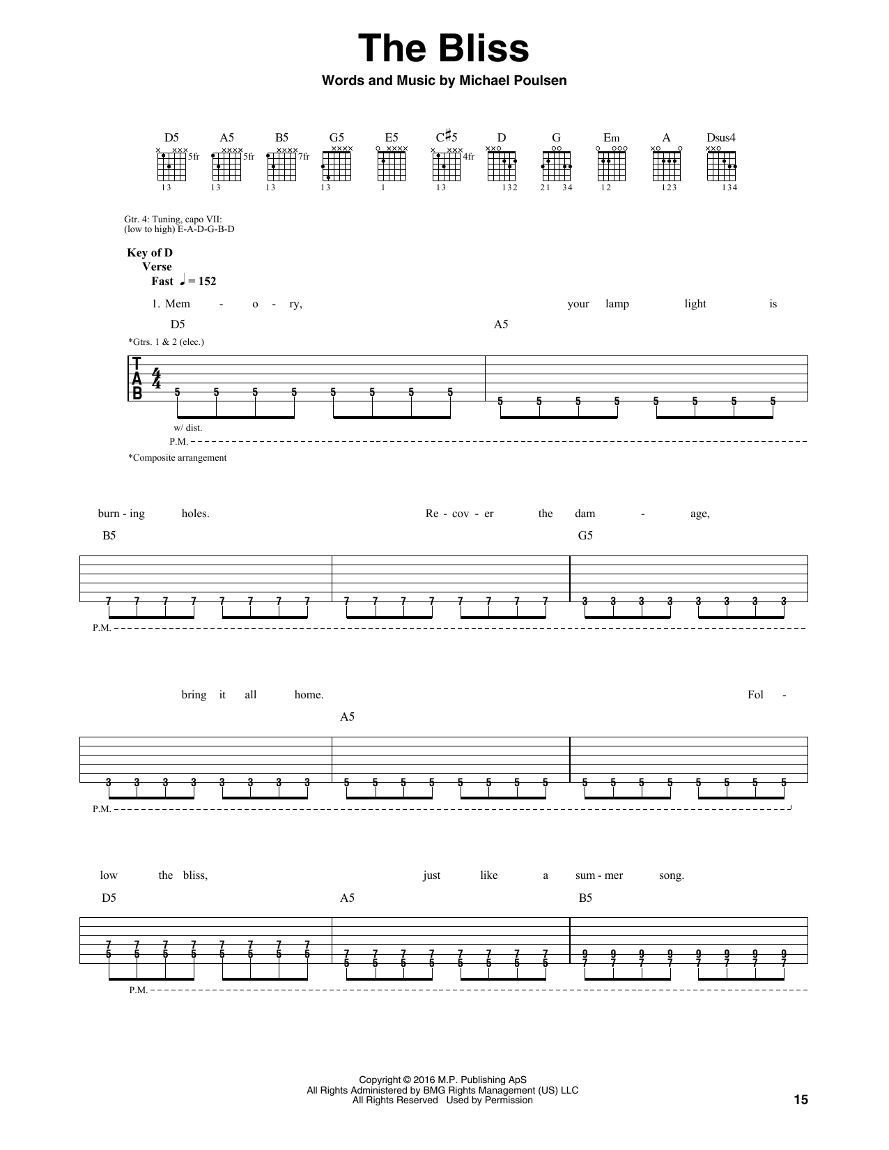 Tablature guitare The Bliss de Volbeat - Tablature Guitare