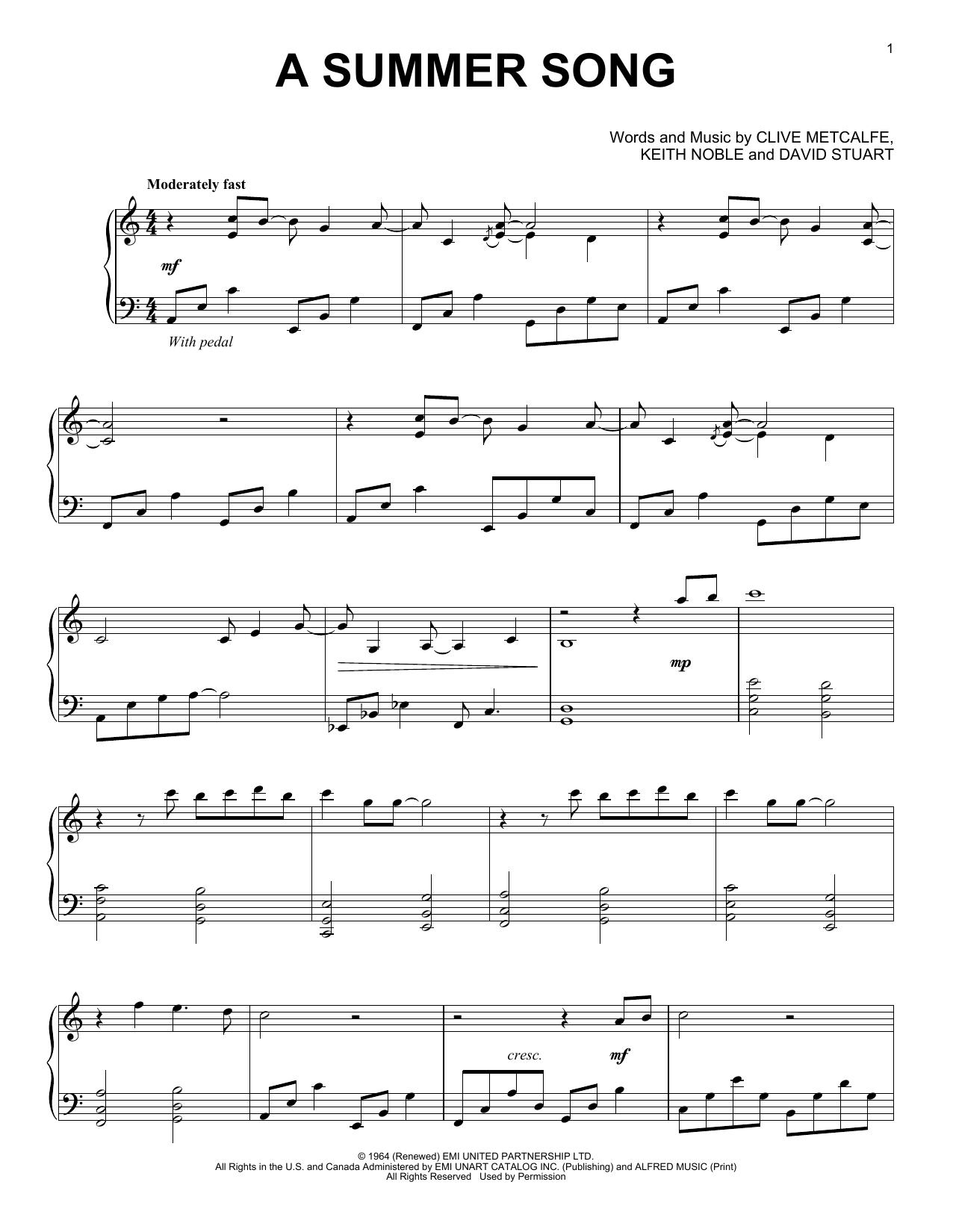A Summer Song (Piano Solo)