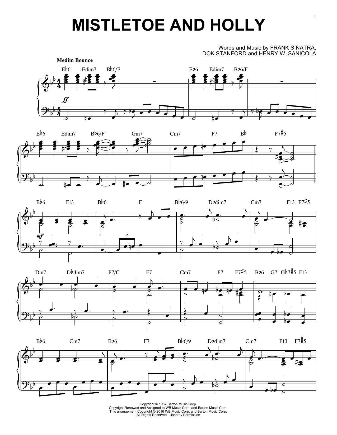 Mistletoe And Holly [Jazz version] (arr. Brent Edstrom) (Piano Solo)