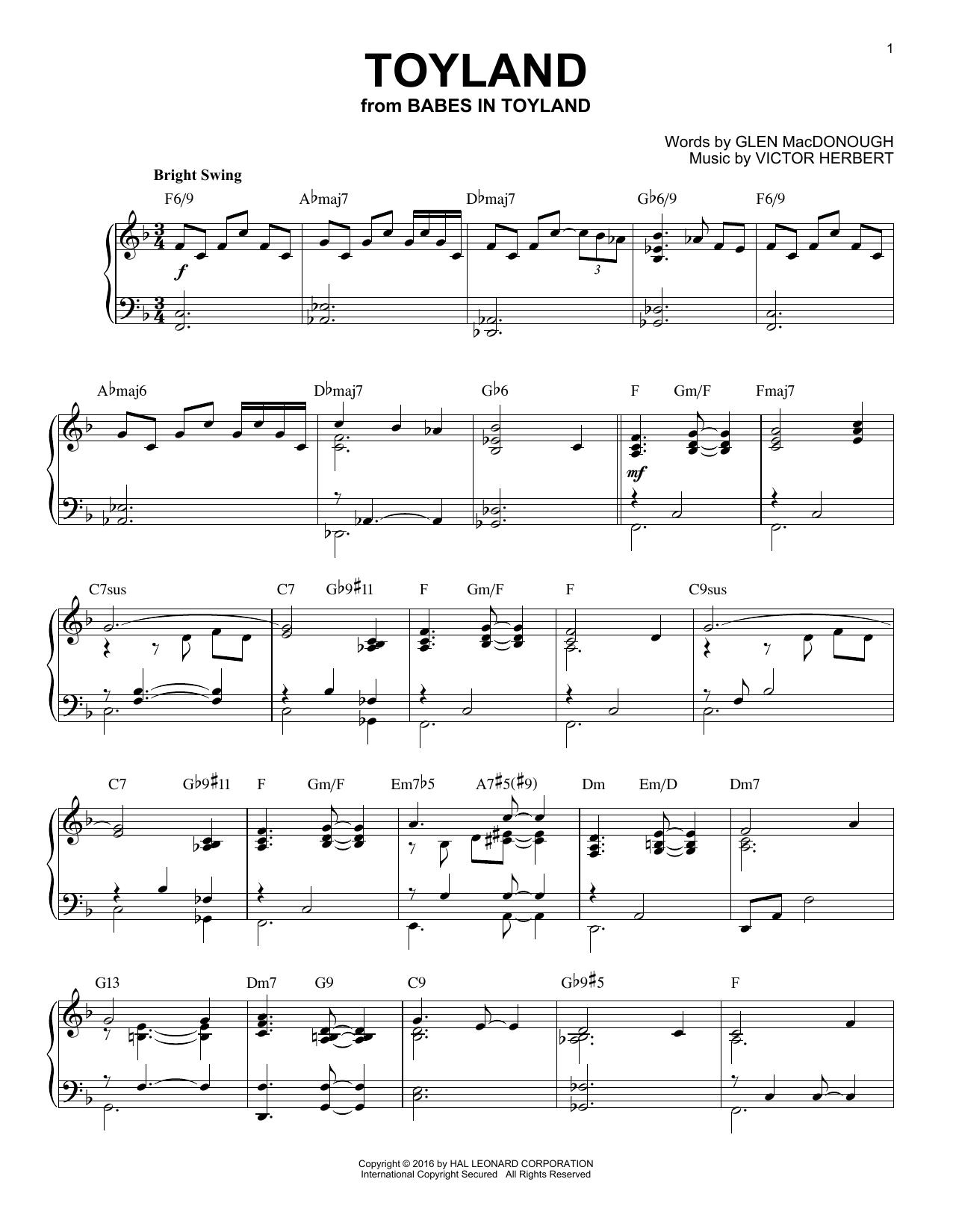 Toyland [Jazz version] (arr. Brent Edstrom) (Piano Solo)