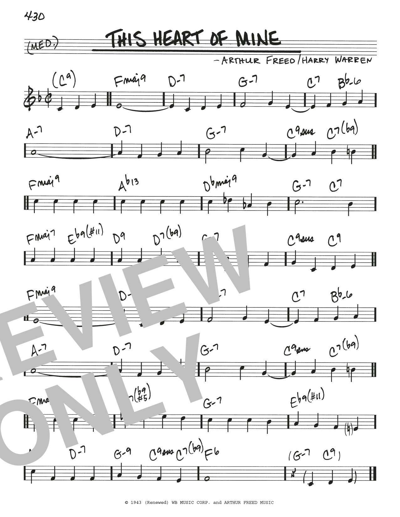 This Heart Of Mine Sheet Music