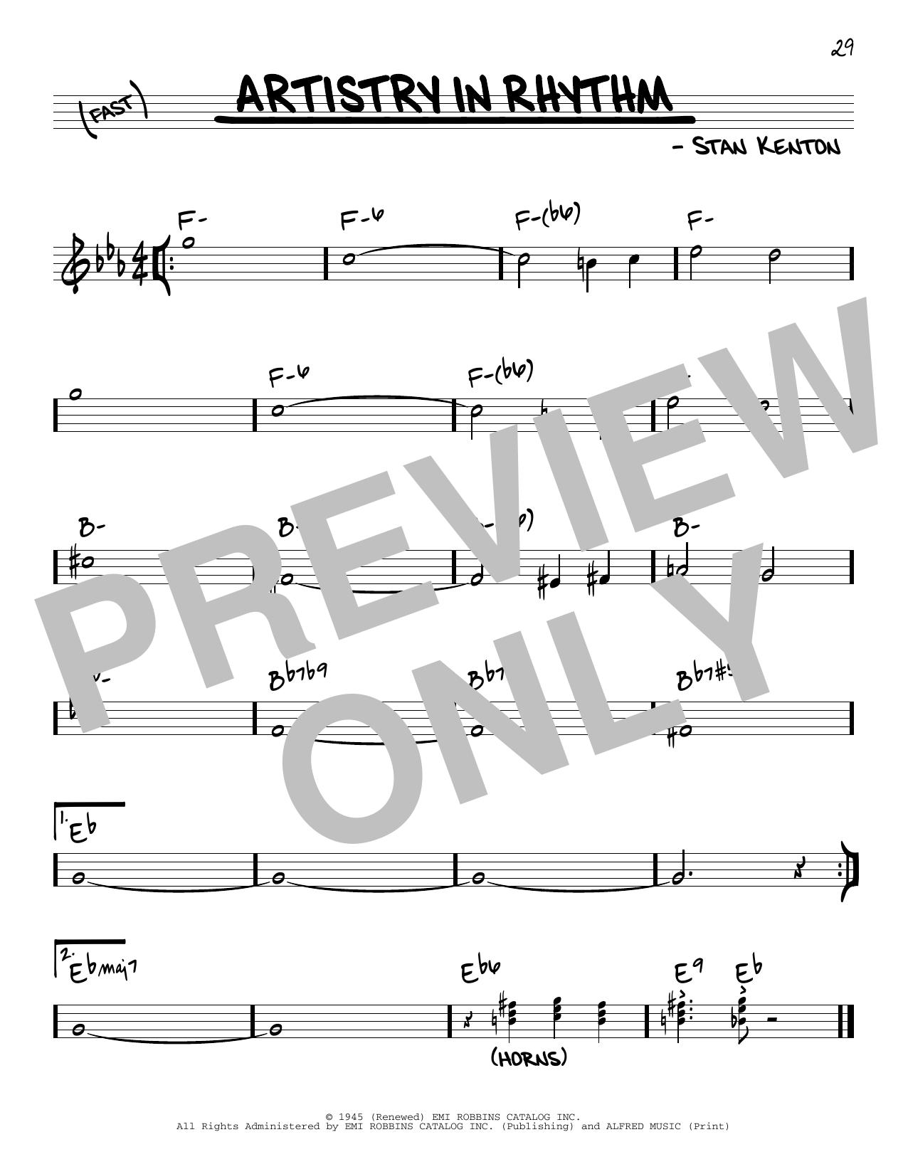 Partition autre Artistry In Rhythm de Stan Kenton - Autre