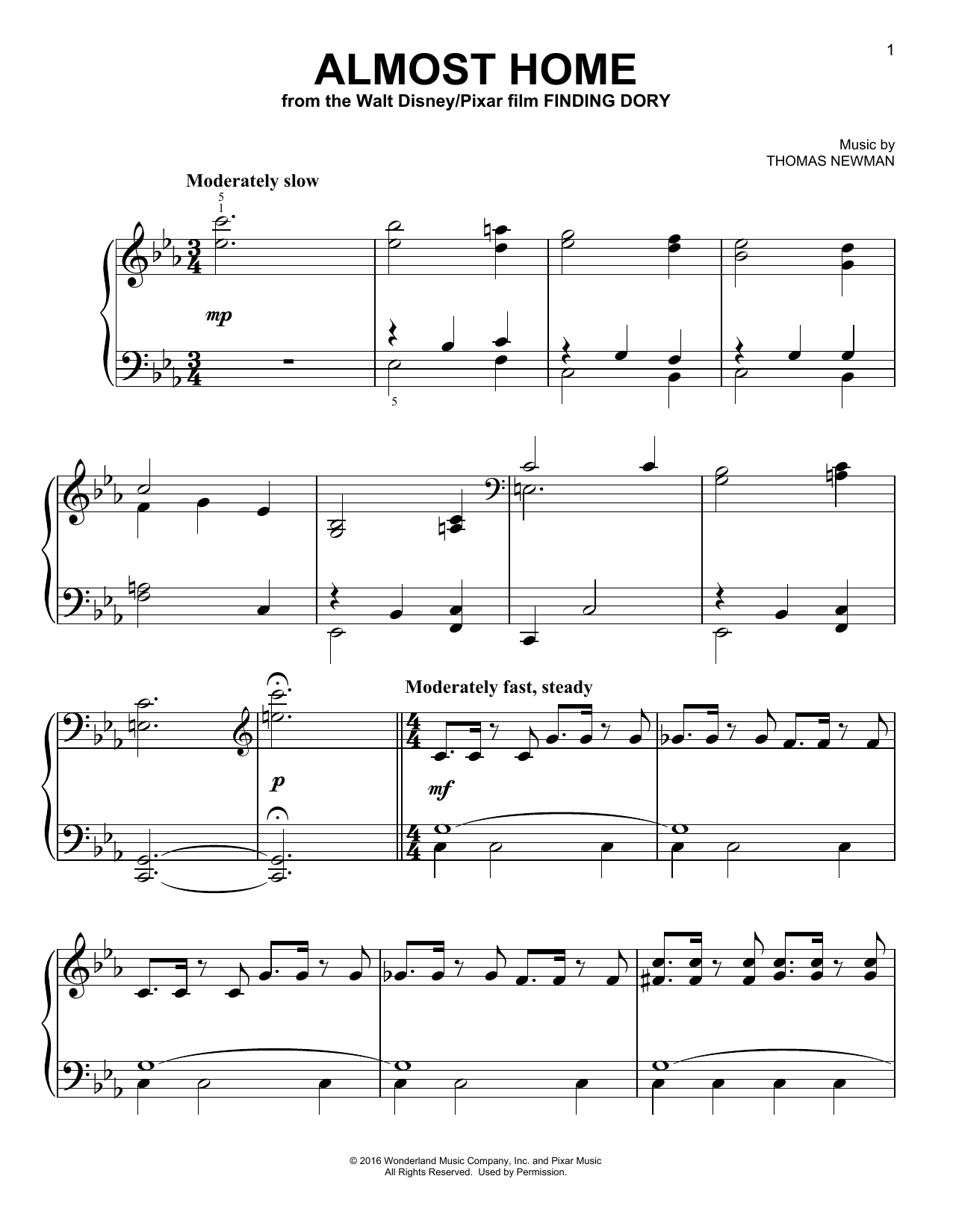 Almost Home Sheet Music