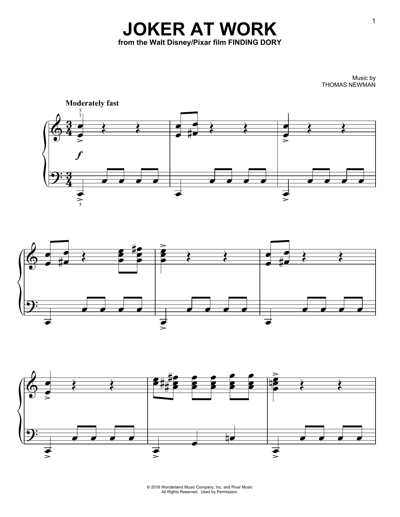 Joker At  Work Sheet Music