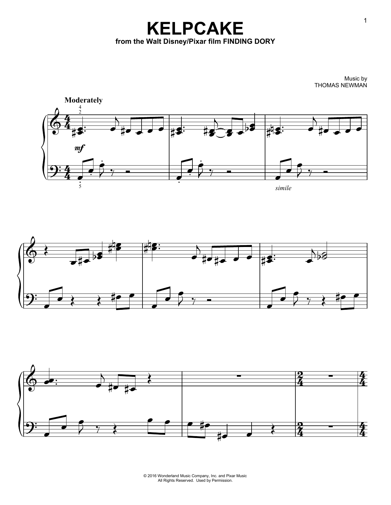Kelpcake Sheet Music