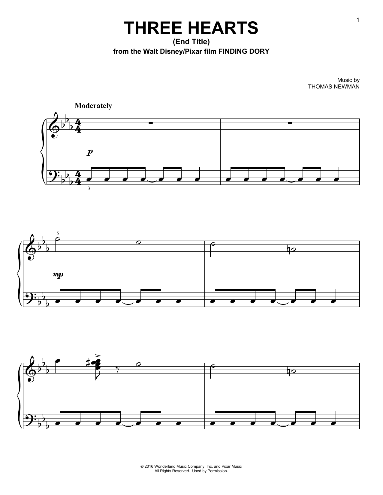 Three Hearts (End Title) Sheet Music