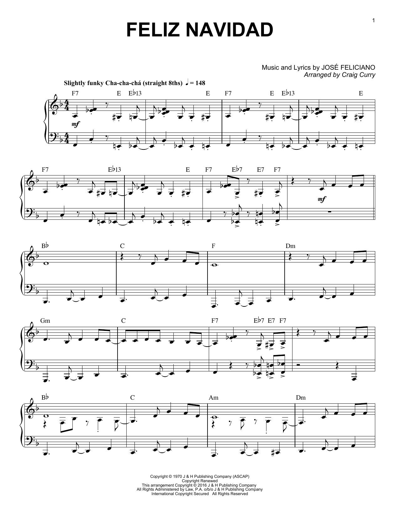 Feliz Navidad (Piano Solo)