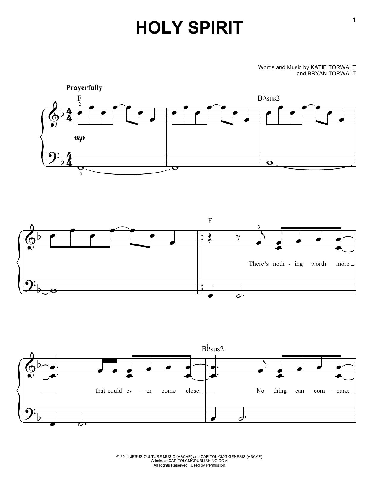 Holy Spirit (Easy Piano)