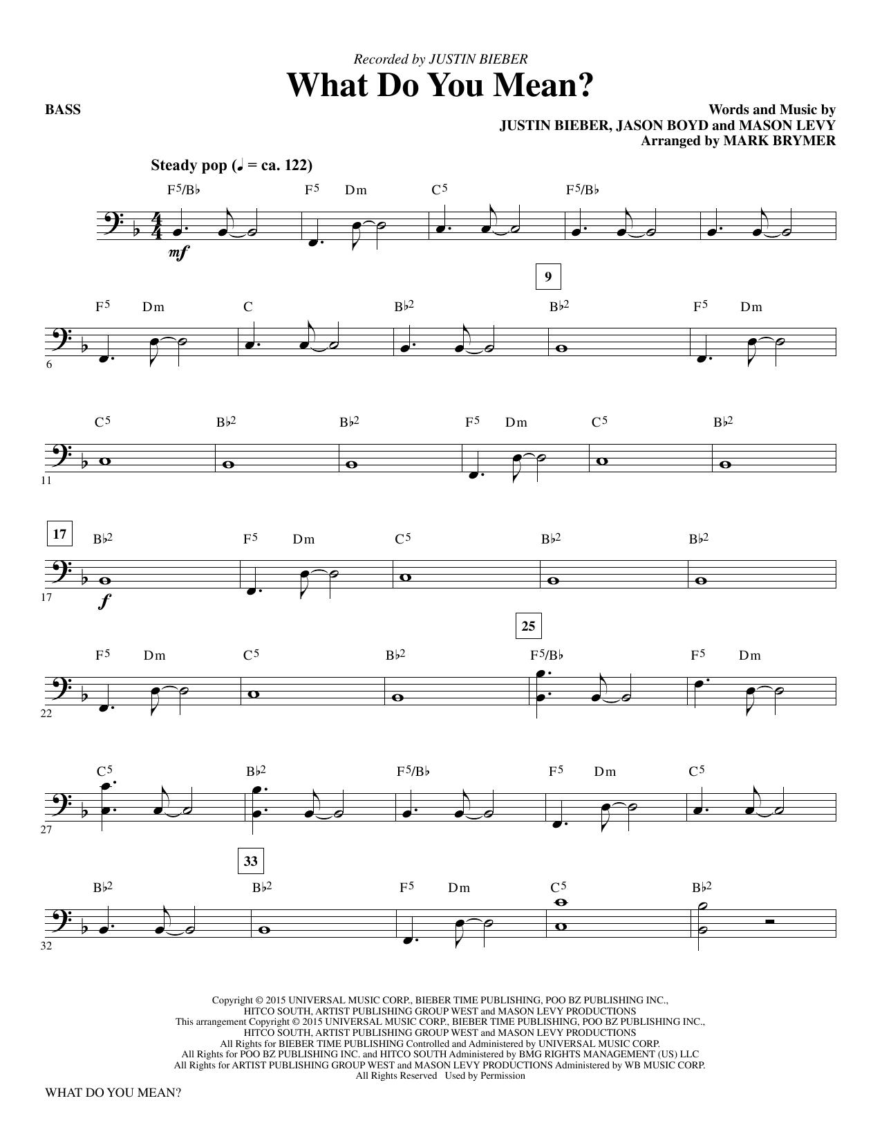 What Do You Mean? - Bass (Choir Instrumental Pak)