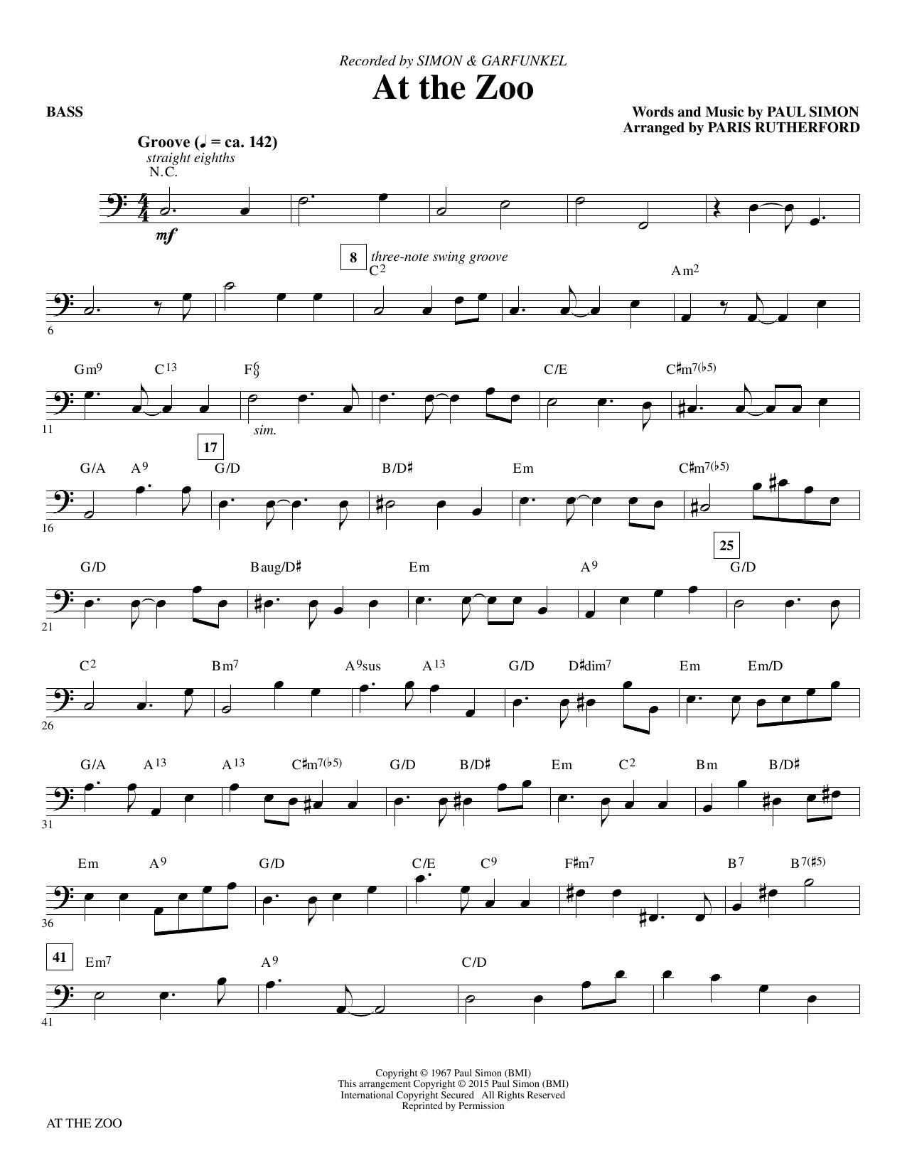At the Zoo - Bass (Choir Instrumental Pak)