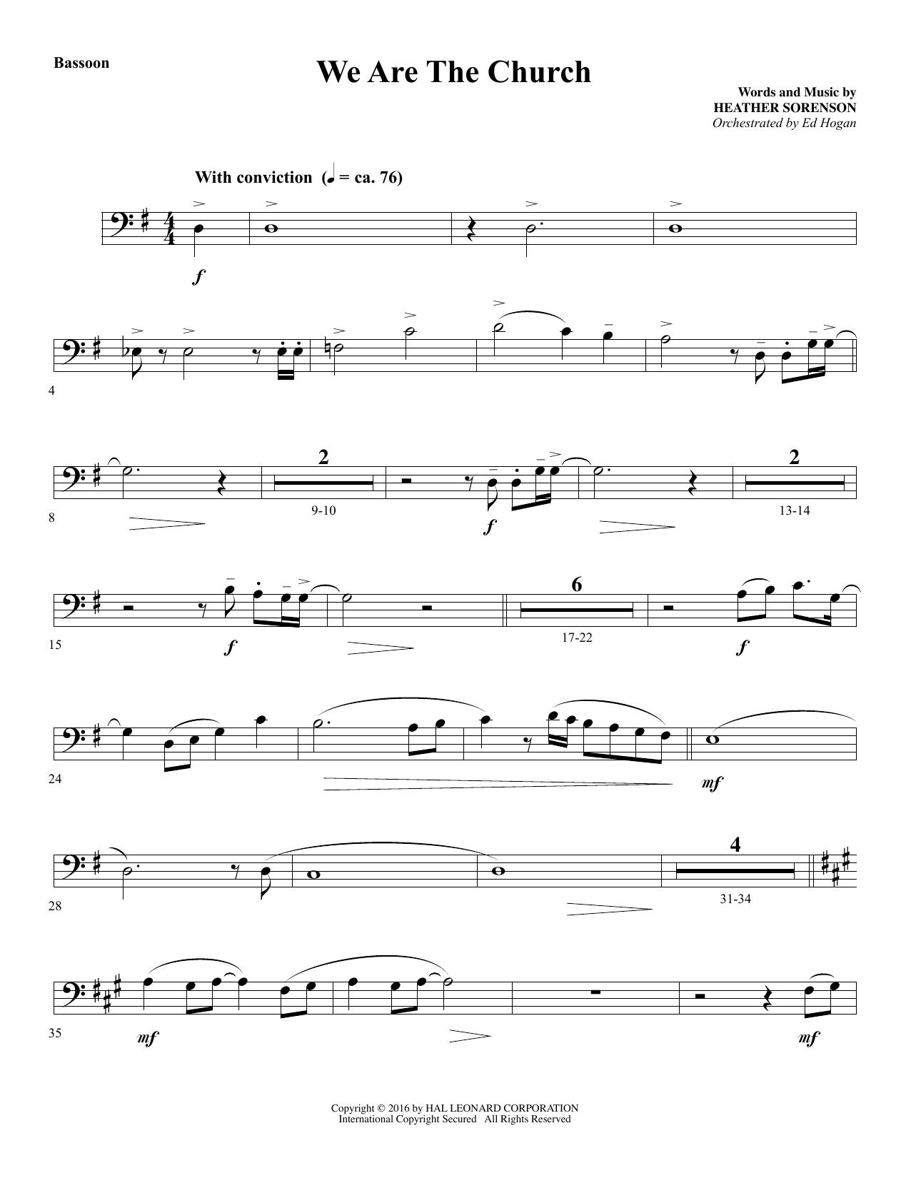 We Are the Church - Bassoon (Choir Instrumental Pak)