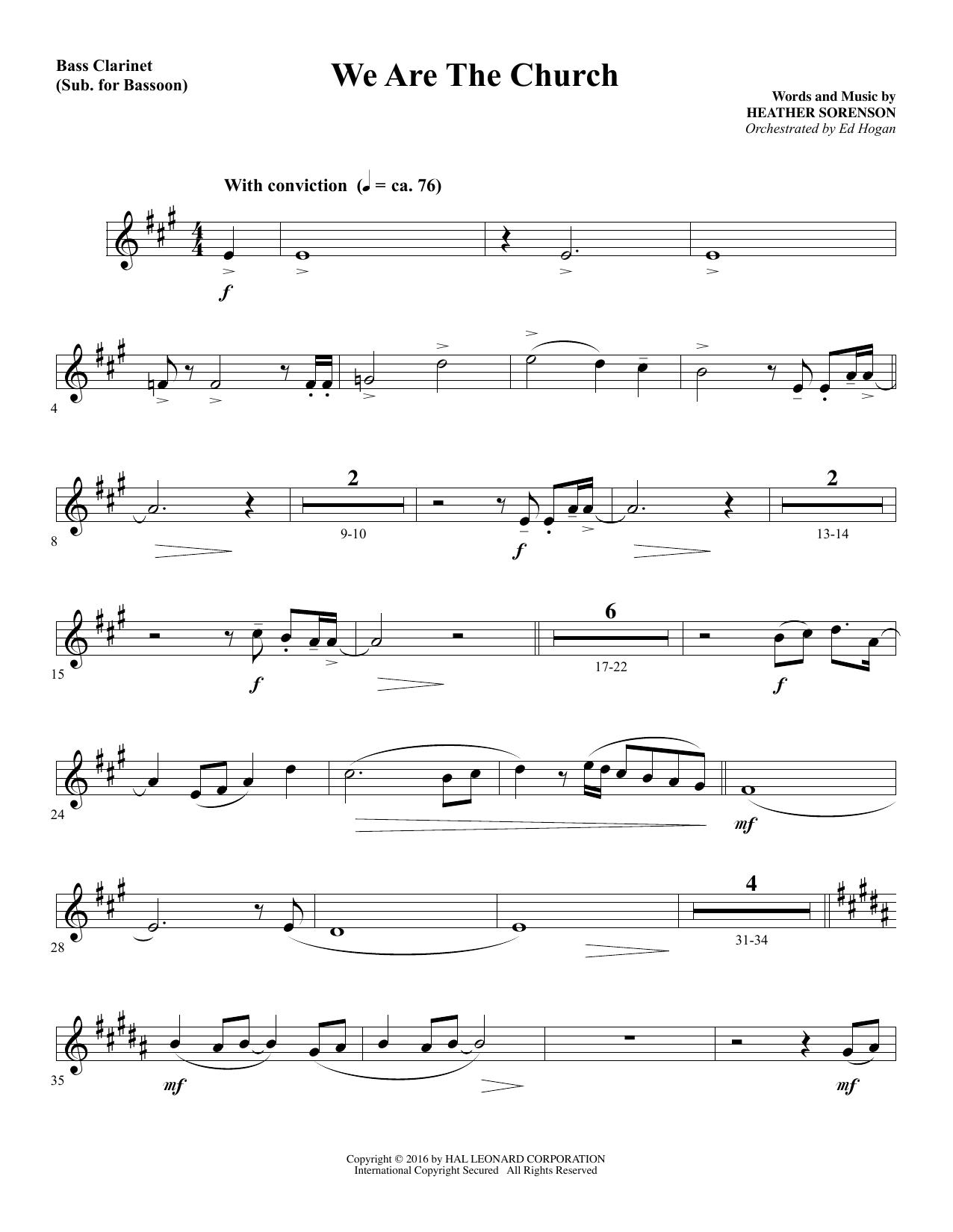 We Are the Church - Bass Clarinet (sub. Bassoon) (Choir Instrumental Pak)