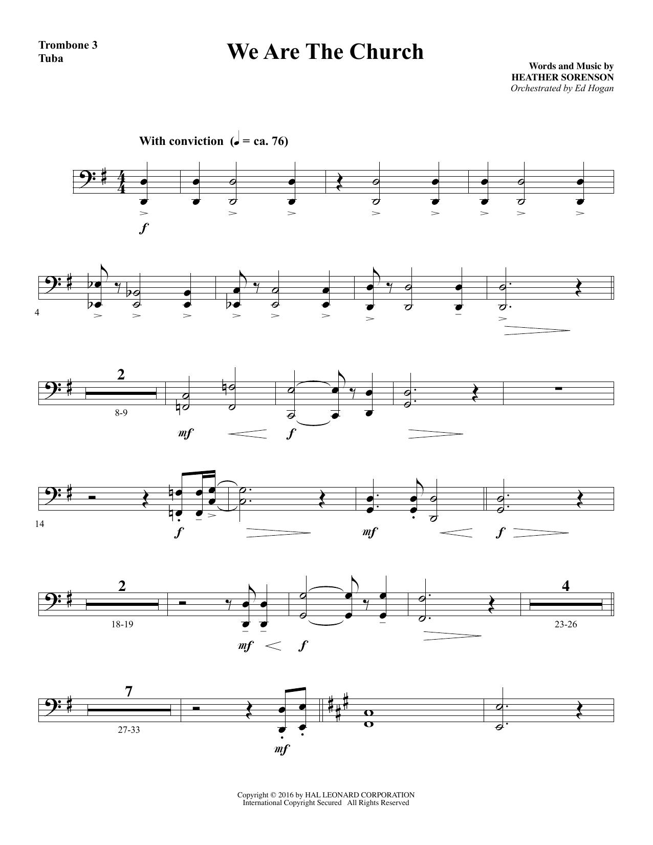 We Are the Church - Trombone 3/Tuba (Choir Instrumental Pak)