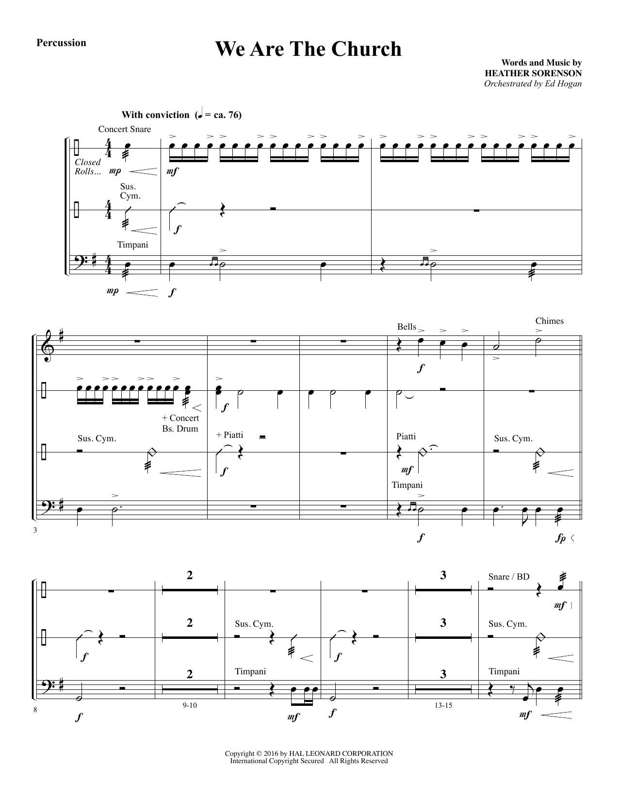 We Are the Church - Percussion (Choir Instrumental Pak)