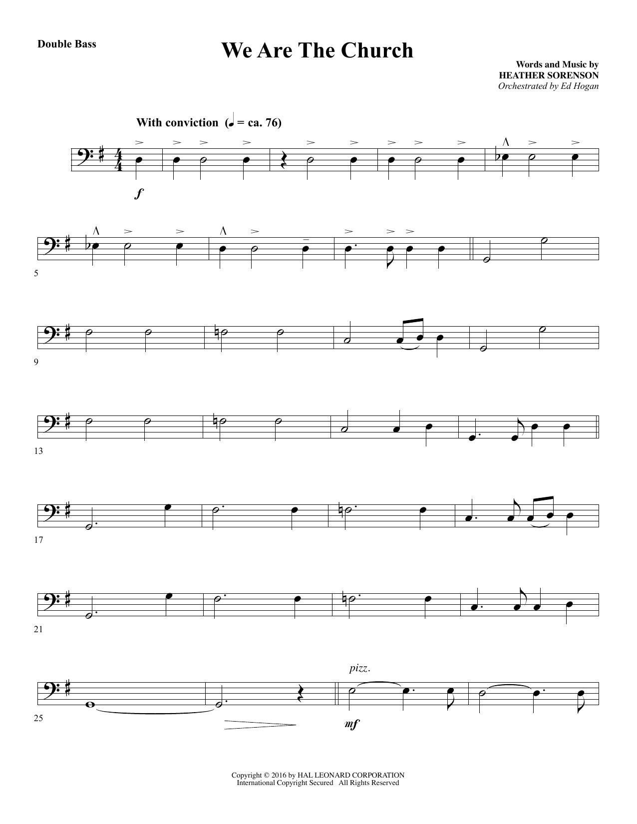We Are the Church - Double Bass (Choir Instrumental Pak)