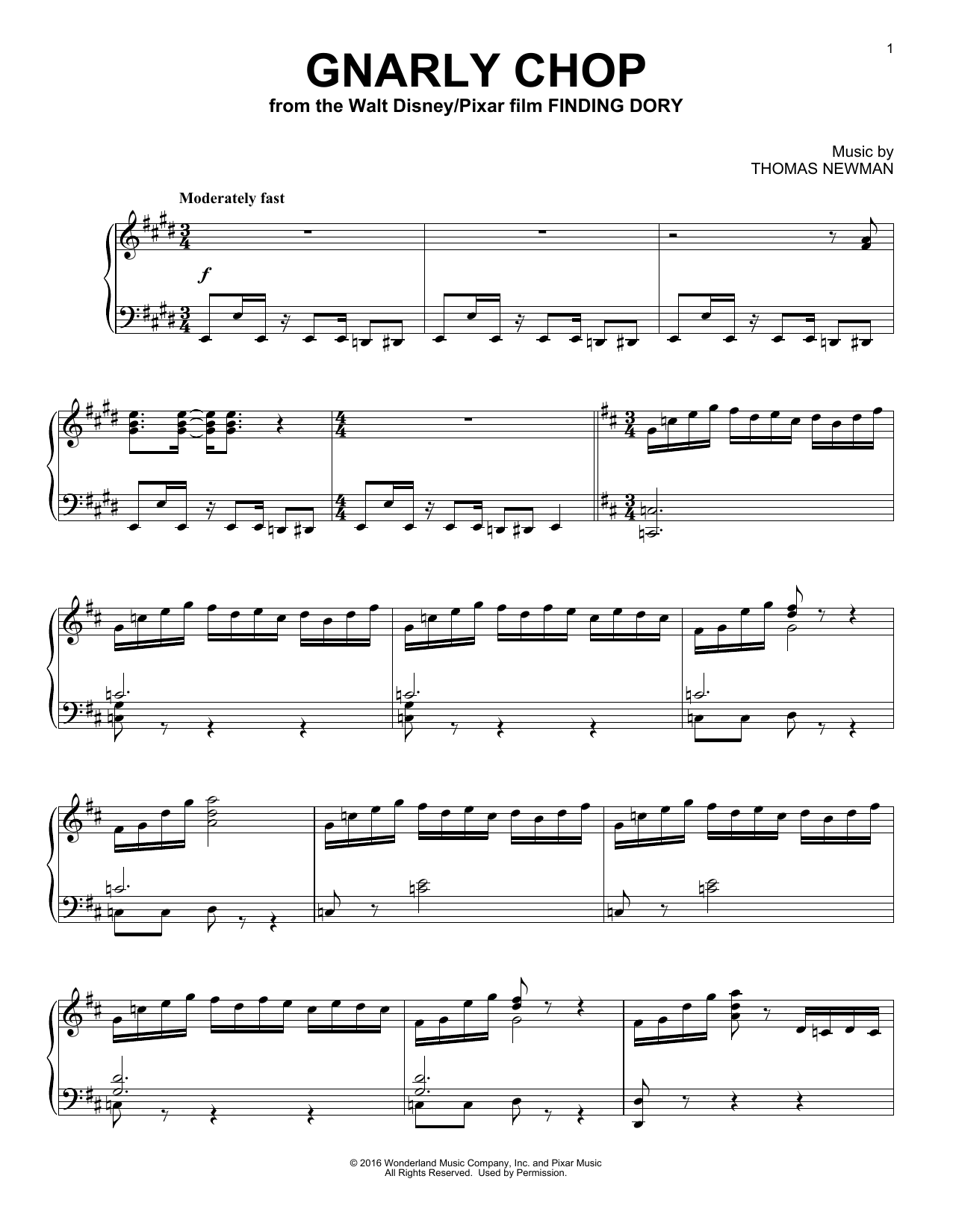 Gnarly Chop Sheet Music