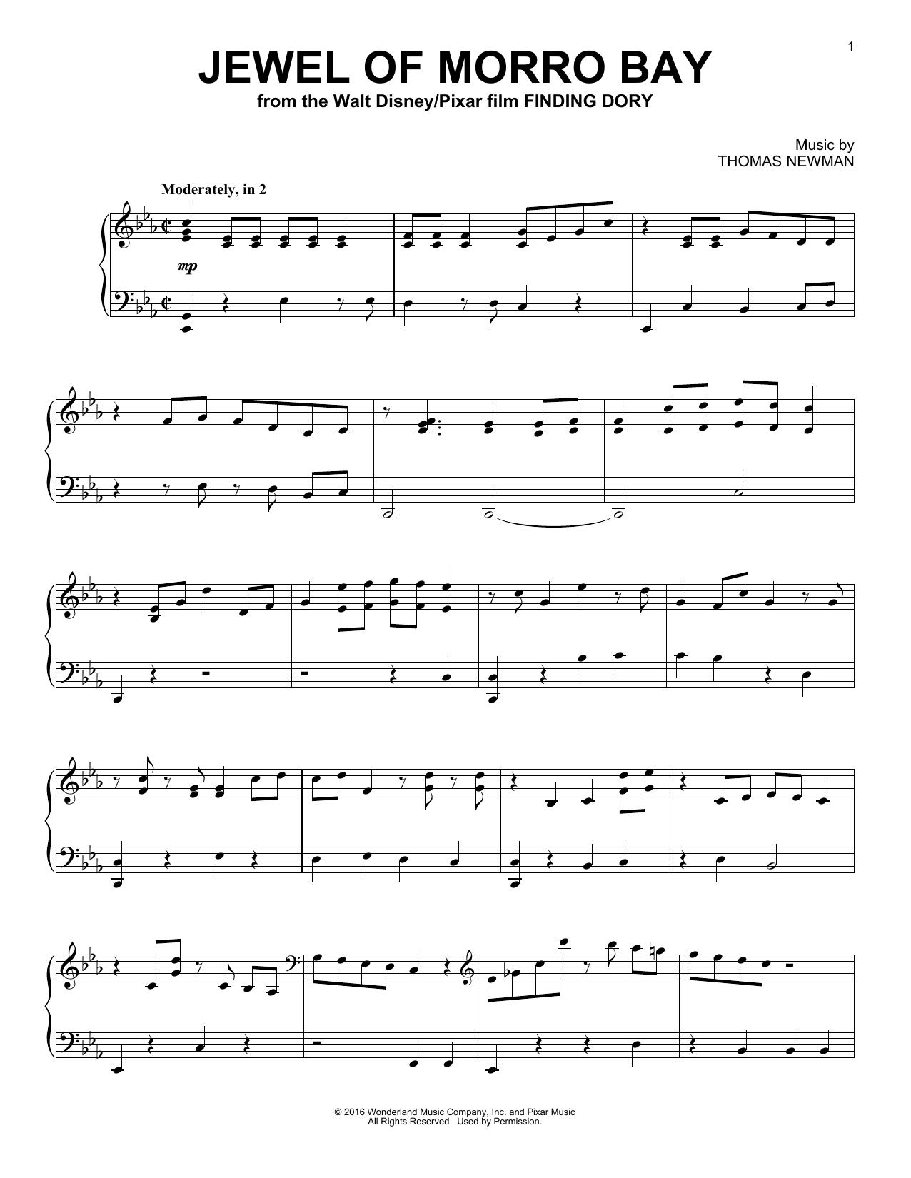 Partition piano Jewel Of Morro Bay de Thomas Newman - Piano Solo