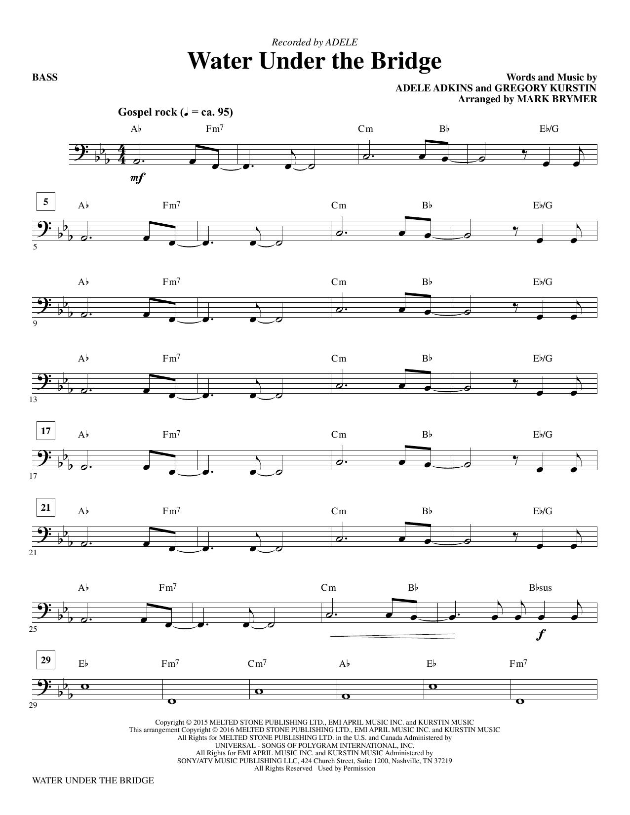Water Under the Bridge - Bass (Choir Instrumental Pak)