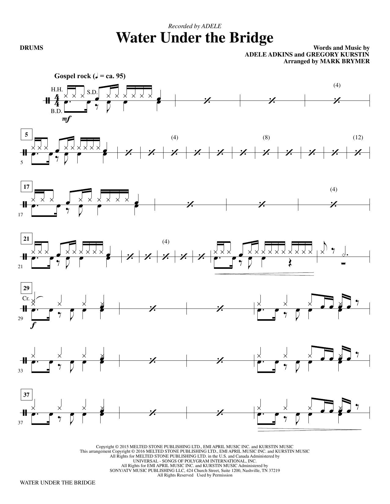 Water Under the Bridge - Drums Sheet Music