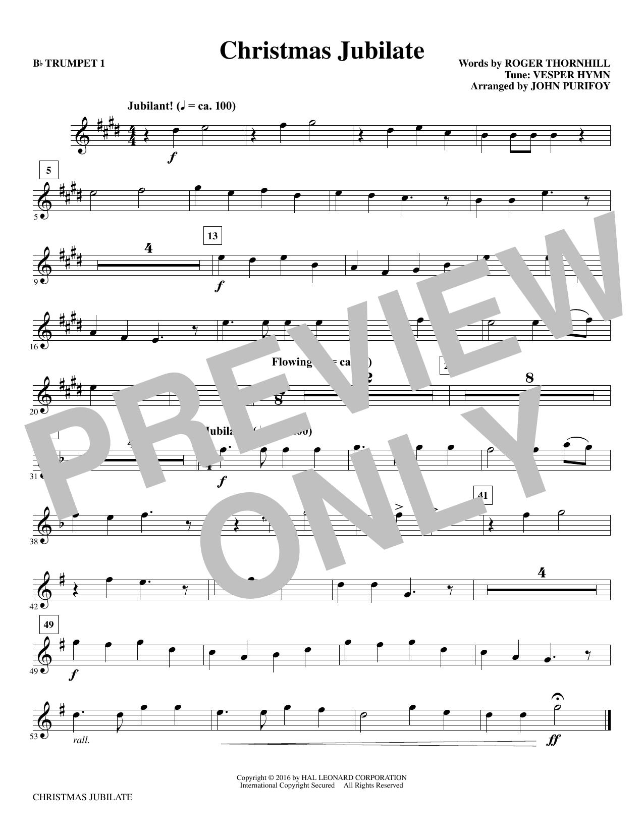 Christmas Jubilate - Bb Trumpet 1 Sheet Music