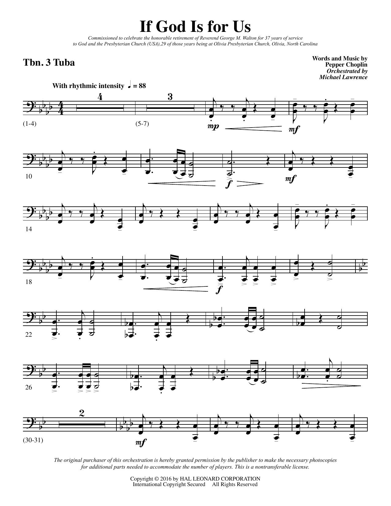 If God Is for Us - Trombone 3/Tuba (Choir Instrumental Pak)