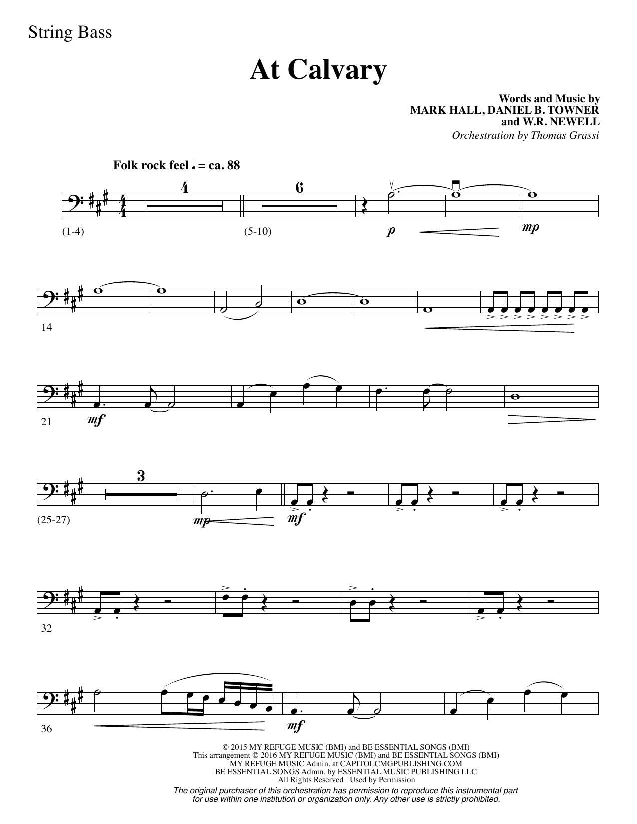 At Calvary - Double Bass Sheet Music