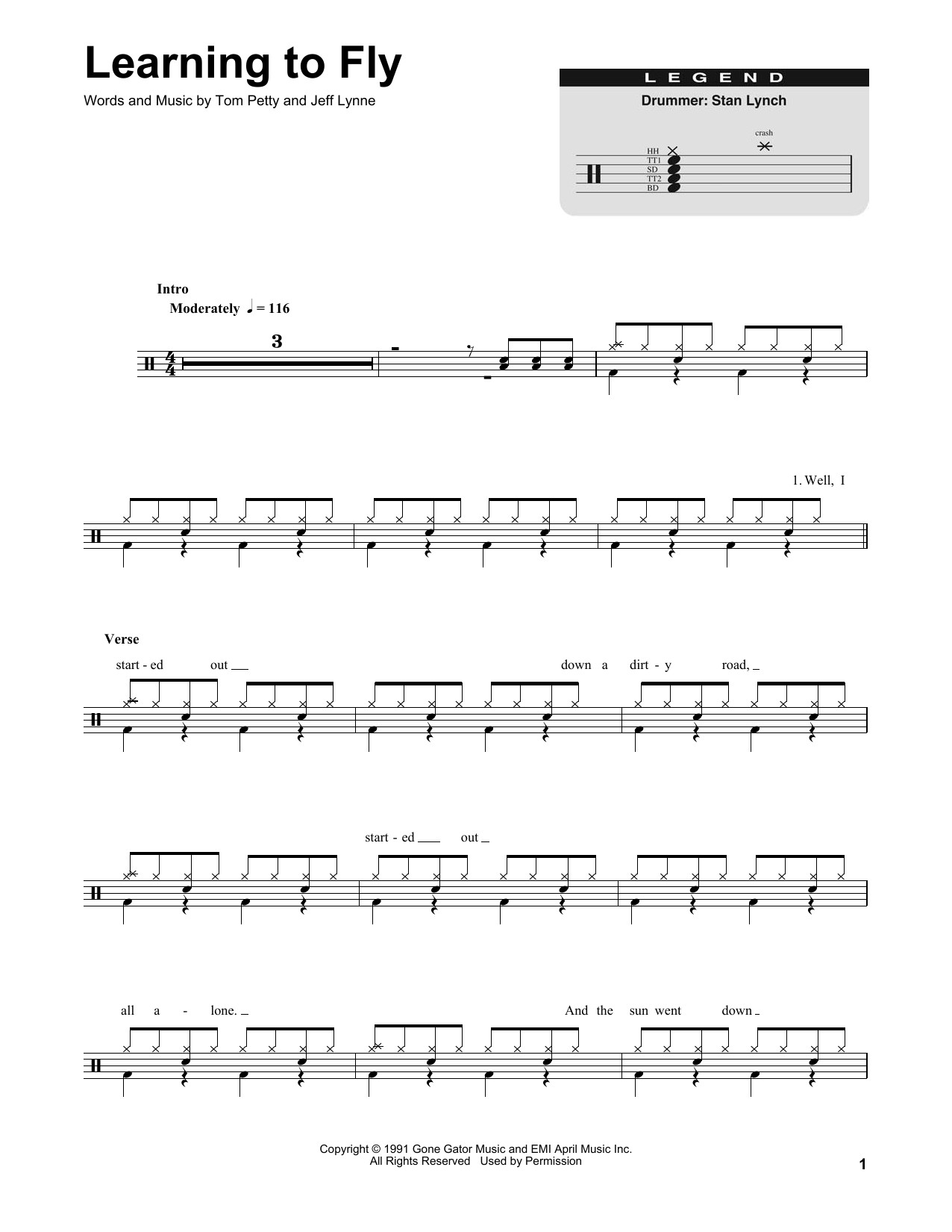 Learning To Fly (Drums Transcription)