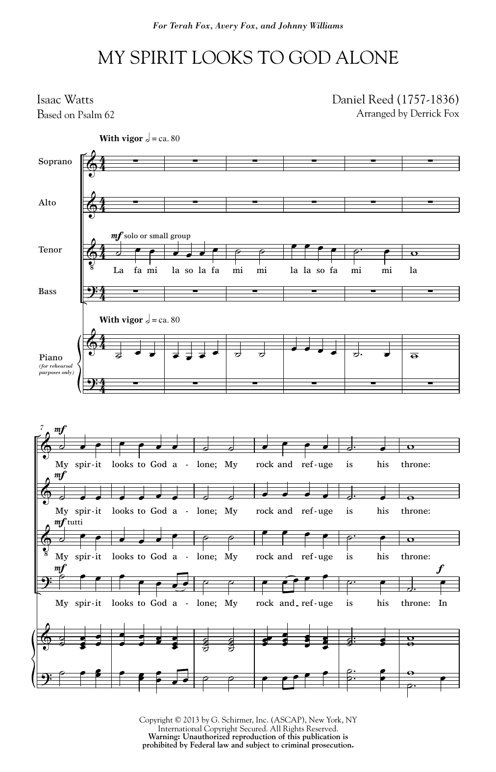 My Spirit Looks To God Alone Sheet Music