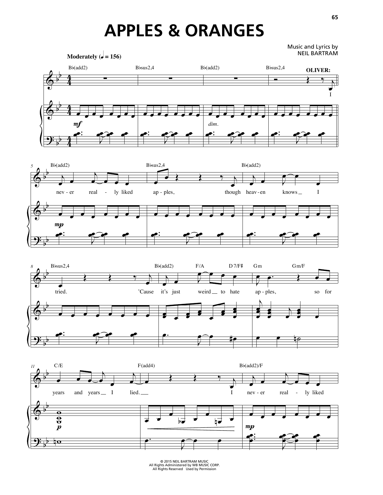 Apples & Oranges Sheet Music