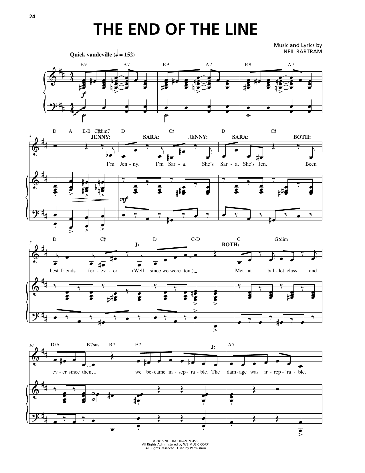 The End Of The Line Sheet Music