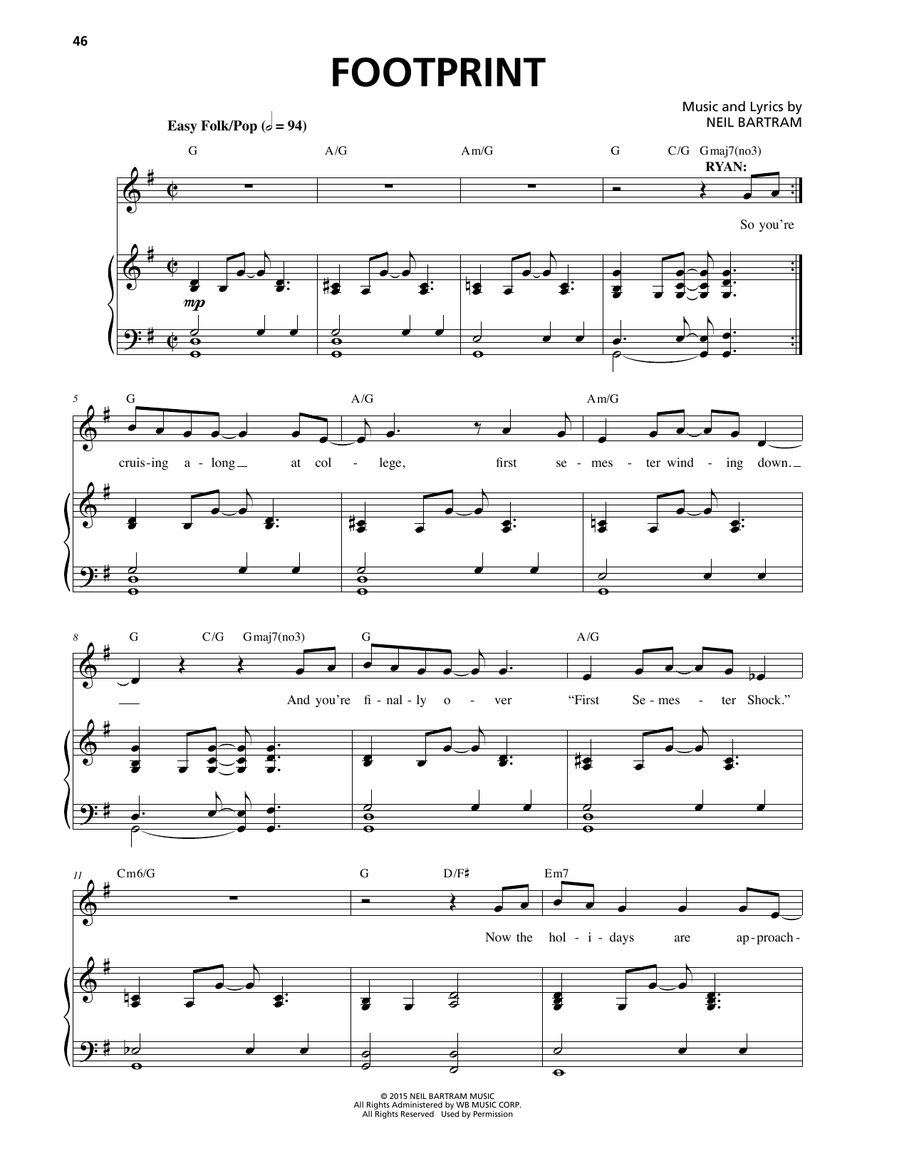 Footprint Sheet Music