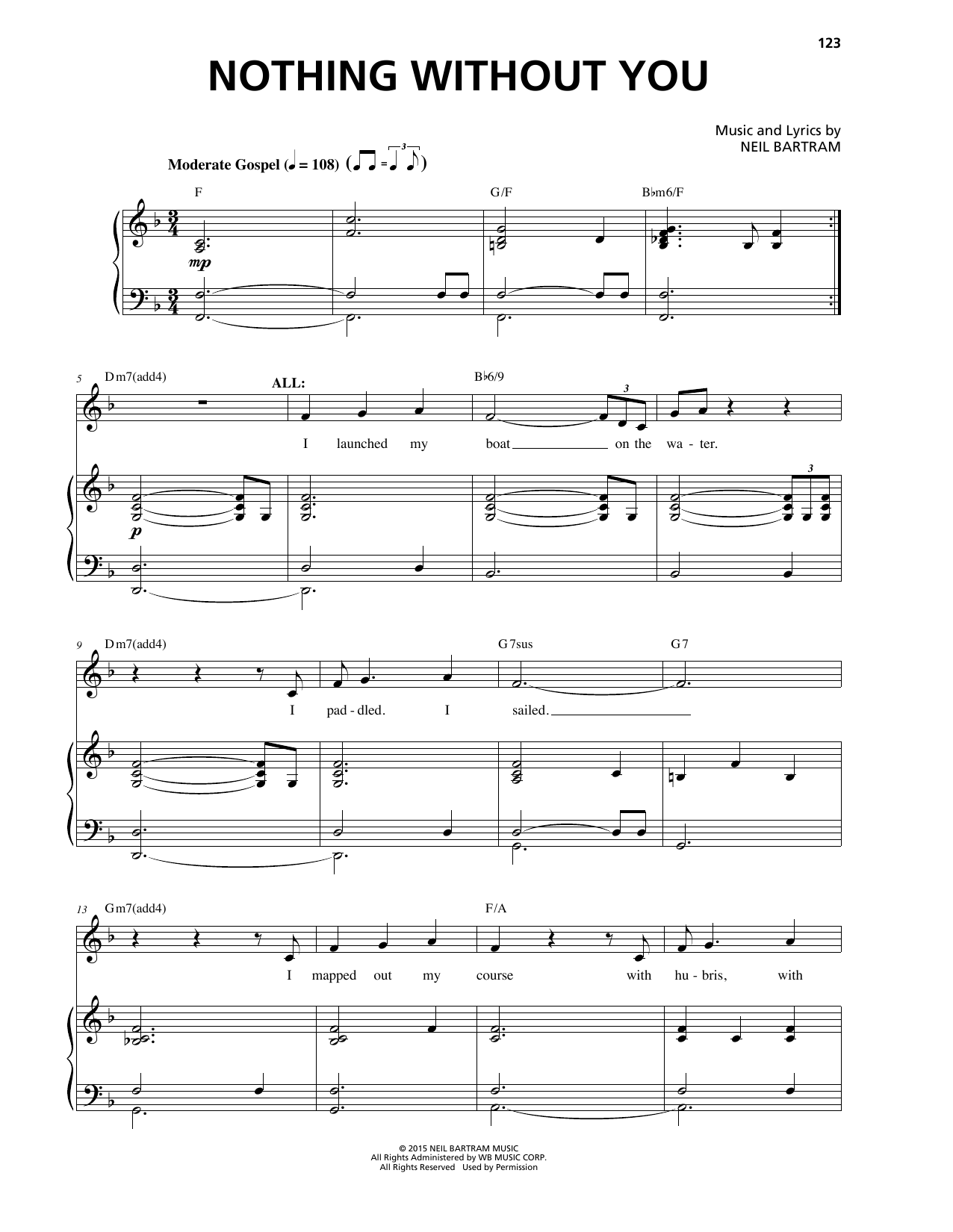 Nothing Without You Sheet Music