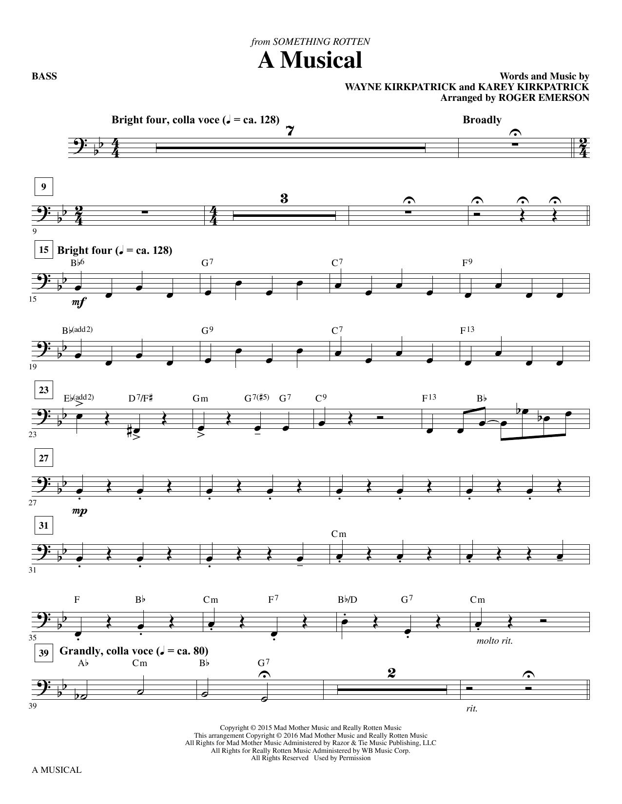 A Musical - Bass Sheet Music