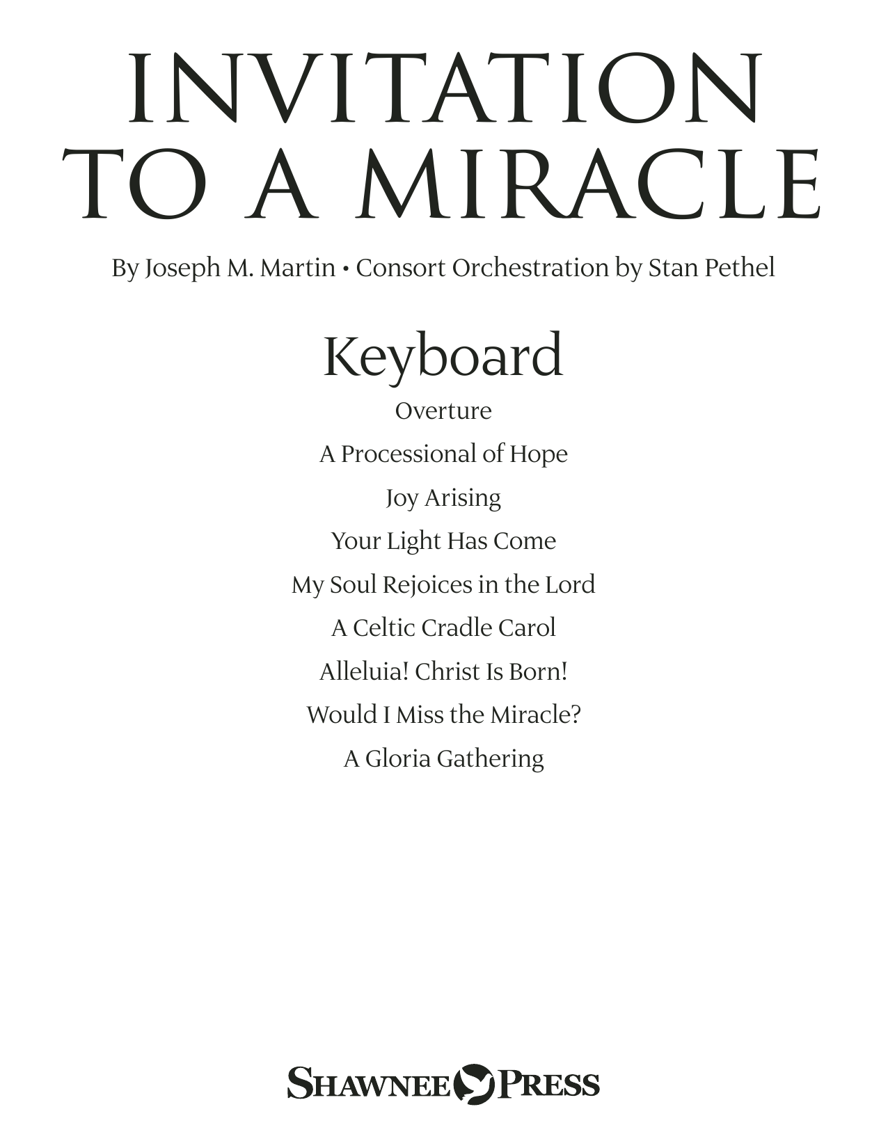 Invitation to a Miracle - Keyboard Sheet Music
