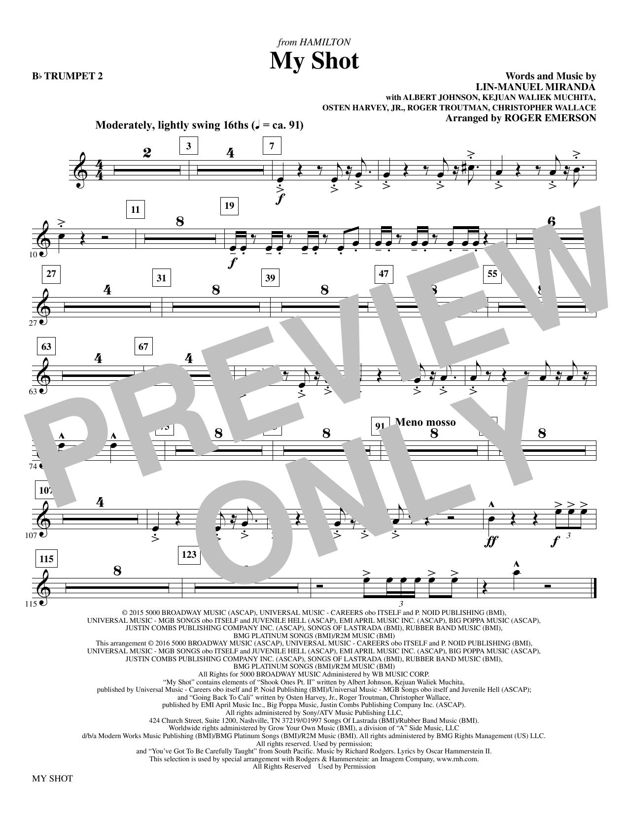 My Shot - Bb Trumpet 2 Sheet Music